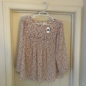 GAP 3/4 sleeve floral shirt